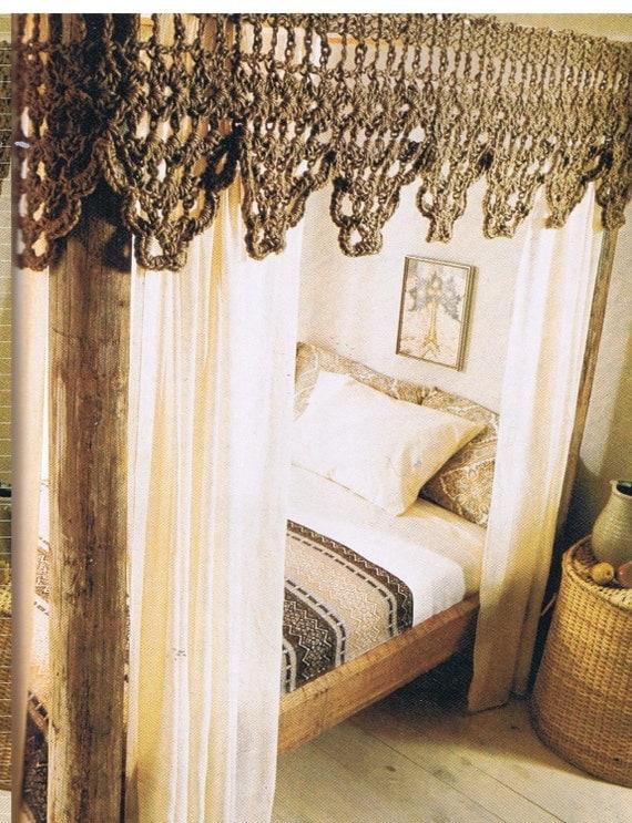 & crochet bed canopy /valance crochet pattern pdf