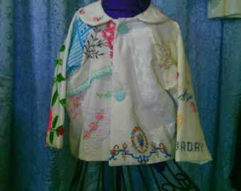 Girls' jacket, vintage embroidered.