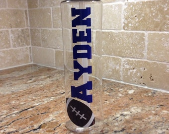 Personalized Water Bottles - Football