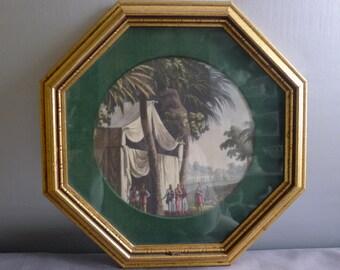 Octagon framed print