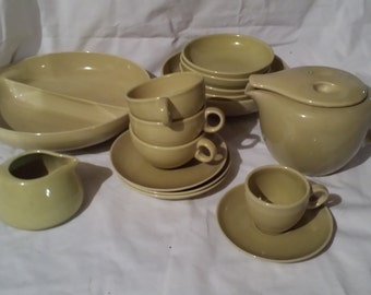 LOT of Russel Wright Iroquois Casual AVOCADO - For sale in total or by piece