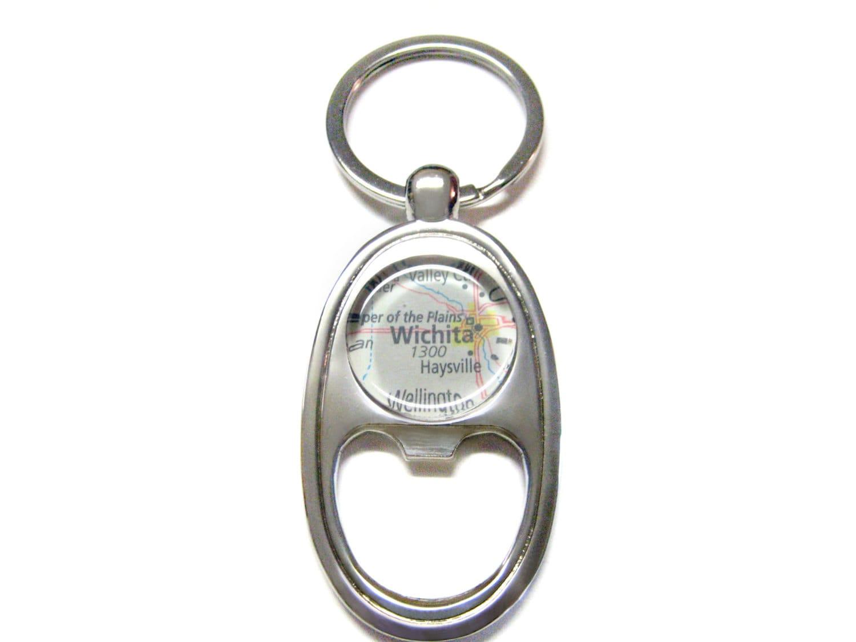 wichita kansas bottle opener key chain. Black Bedroom Furniture Sets. Home Design Ideas