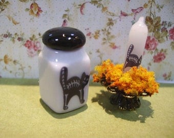 Black Cat Canister for Dollhouse 1:12 scale