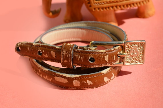 Items Similar To Anne Klein Leather Belt Bracelet Wrap Arm