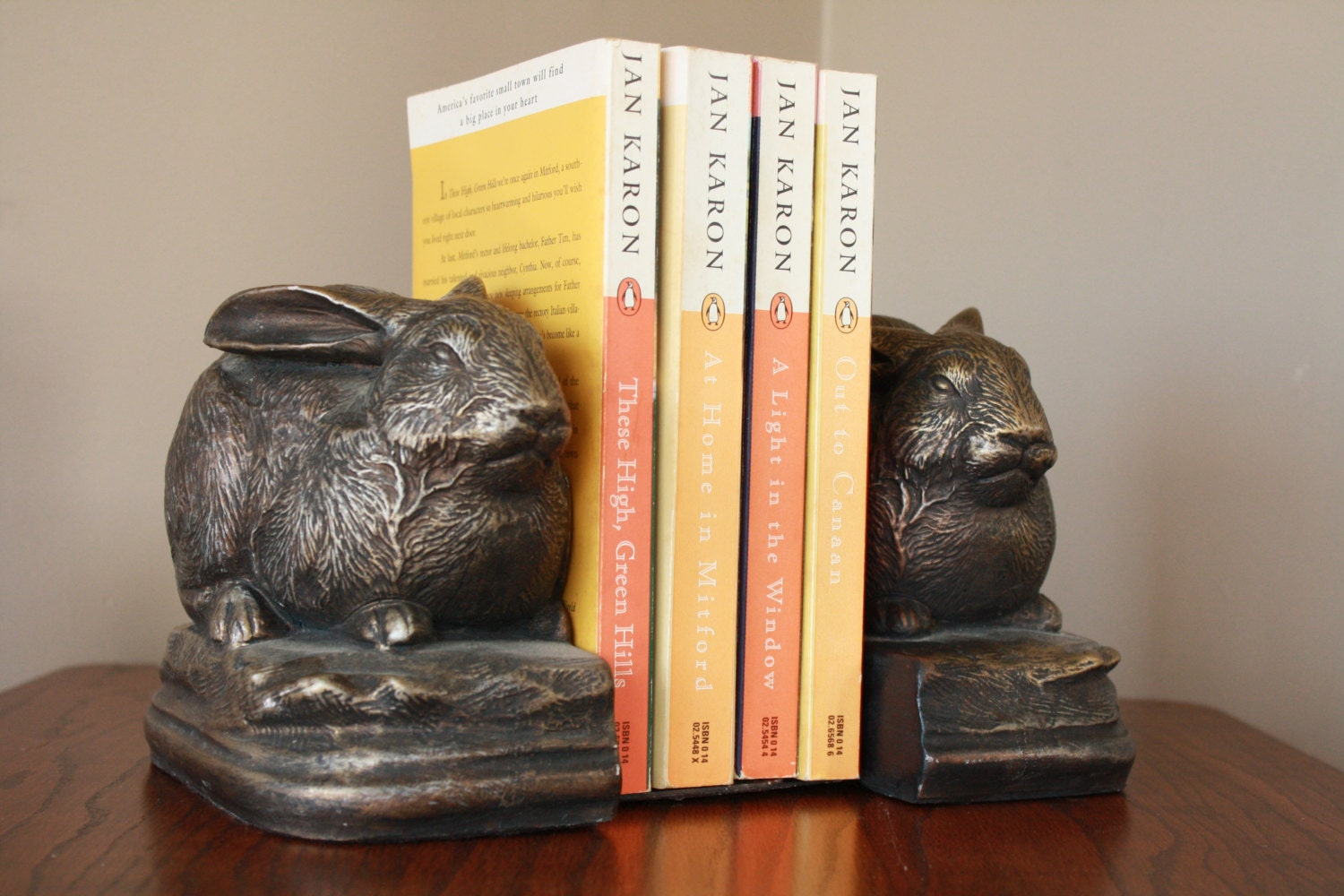 Antique rabbit bookends bronze library bookends vintage - Antique brass bookends ...