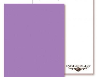 Inkedibles Premium Frosting ChromaSheets: 5 pack Letter Size (Pastel Purple)