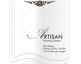 Inkedibles Artisan Frosting Sheets 24 sheets: Precut 2.0 inch circles (12 circles per sheet)