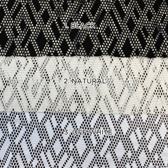 stretch lace fabric by the yard or wholesale rhombus geometric. Black Bedroom Furniture Sets. Home Design Ideas