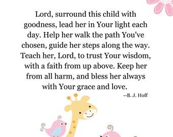 Baby Girl Baptism Gift Christening Gift Nursery Art