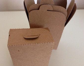 Mini Take Out Boxes Wedding Favor Box (10) Kraft Card