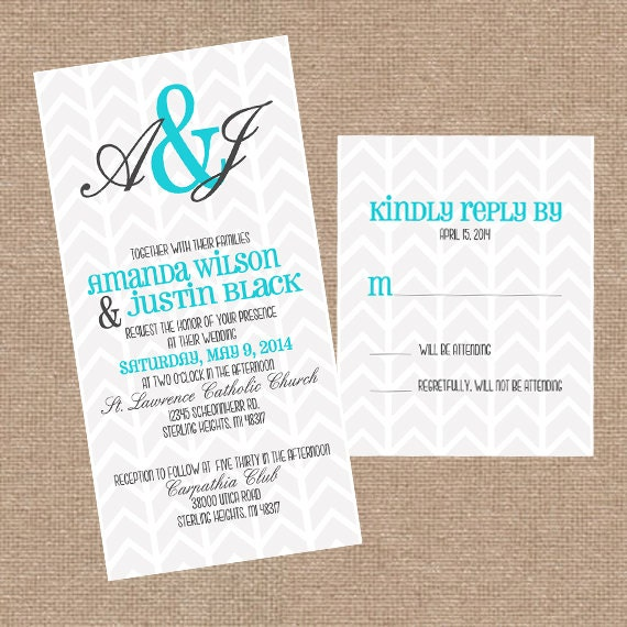 printable wedding invitation set with rsvp card chalky gray