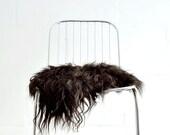 Sheepskin Chair Cover Black - 40 x 40 Centimeters - Sheepskin Chair Throw Black