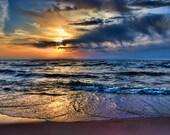 Michigan Photography, Michigan Art, Beach Photography, Beach Print, Saugatuck Michigan, Oval Beach, Saugatuck,Beach Wall Decor,Shoreline Art