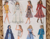 Simplicity 8333 Barbie or Other Dolls' Wardrobe Sewing Pattern