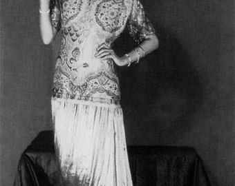 Peggy Guggenheim, 1926, Flapper Outfit, Fashion, Photo Print