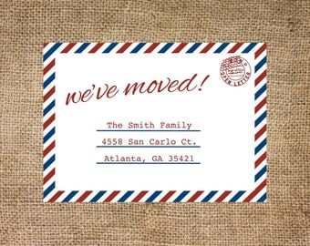 Moving Annoucement, Postcard, personalized and printable, 5x7