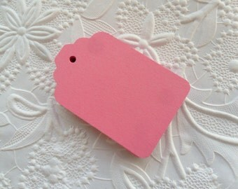 25 Pink Gift Tags-50-100-Hang Tags-Price Tags-Blank-Craft Punch