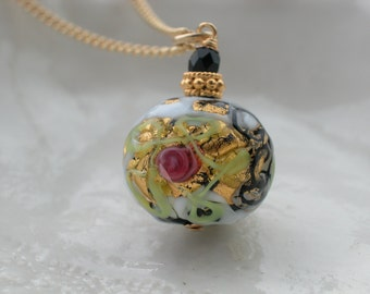 Venetian Murano Glass Wedding Cake Necklace