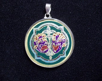 Comedy and Tragedy of Fools Pendant
