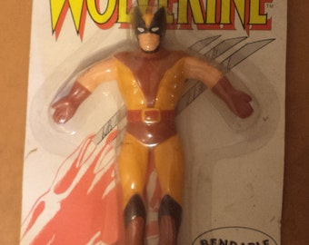 1989 Just Toys Bendable Figure Marvel Super Hero WOLVERINE Mint In Package