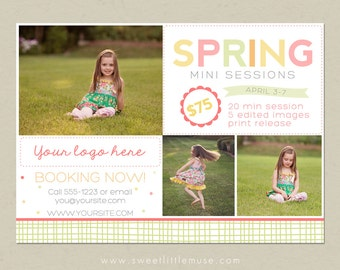 Spring Mini Session Template - mini session template - photography marketing template