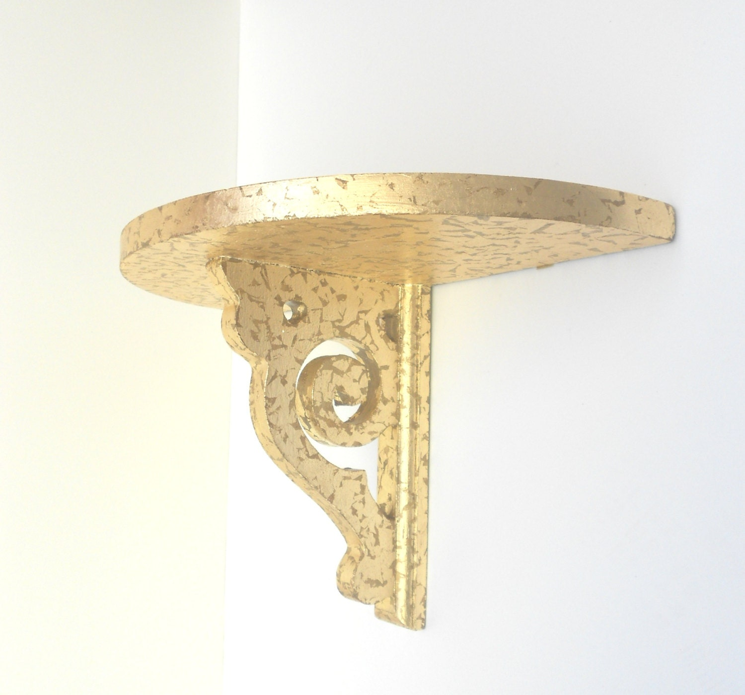 Wall Sconces Shelf : Shelf SconceGold Leaf Decorative Wall Sconce by GoldLeafGirl