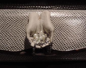 Upcycled Purse 'Diamond Lilly' Boho Hobo Gypsy Hippy Gorgeous Crossover/Clutch