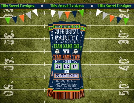 Super Bowl Invitations is nice invitation ideas