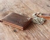 Wallet - Personalized Men's Leather Biker Wallet - Groomsmen Gift - 035