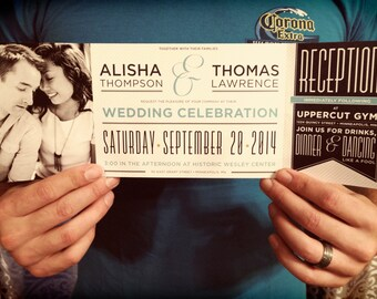 Custom Fold Wedding Invitation