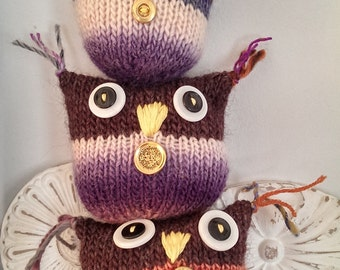 Owl Friends Stuffed Family