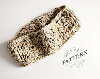 CROCHET PATTERN - Dogwood Blossom Headband Pattern, Granny Square Headband Pattern, Crochet Headband (Toddler, Child, Adult Sizes) pdf #015B