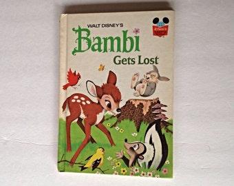 Walt Disney's Bambi Gets Lost, 1972, Vintage Children's Book