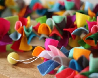 Felt Ruffle Garland // Table Decoration (1.5m)