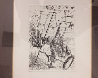 Salvidor Dali Etching Don Quixote