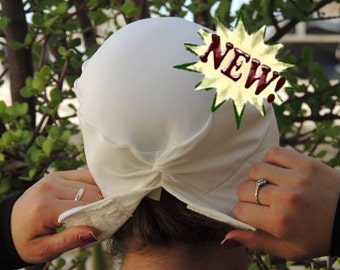 White Volumizer & Anti Slip Headband-NEW-All In One Hat-Great under head scarves, wigs,chemo,head coverings volumizing hijab headpiece