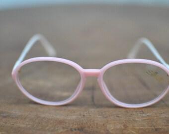 Vintage SILHOUETTE ladies glasses , vintage frames , pink edition .....