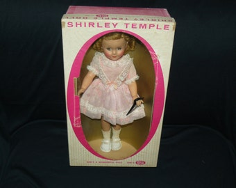 Shirley Temple Doll, almost Mint condition, 1950s with Original Box, made by The Ideal Co.  15 inches tall.