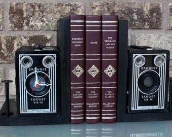 Kodak Brownie Target Six-16 - Vintage Camera Bookends