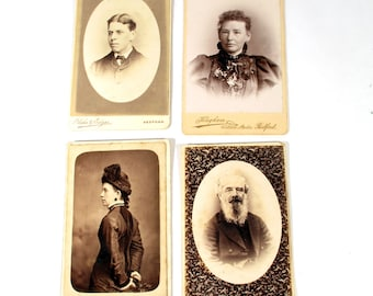 Carte de Visite - Collection of 4 Pictures from Late 1800s