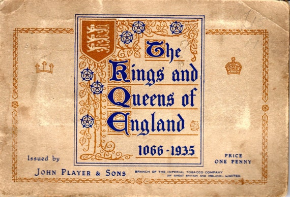 list of kings and queens of england pdf