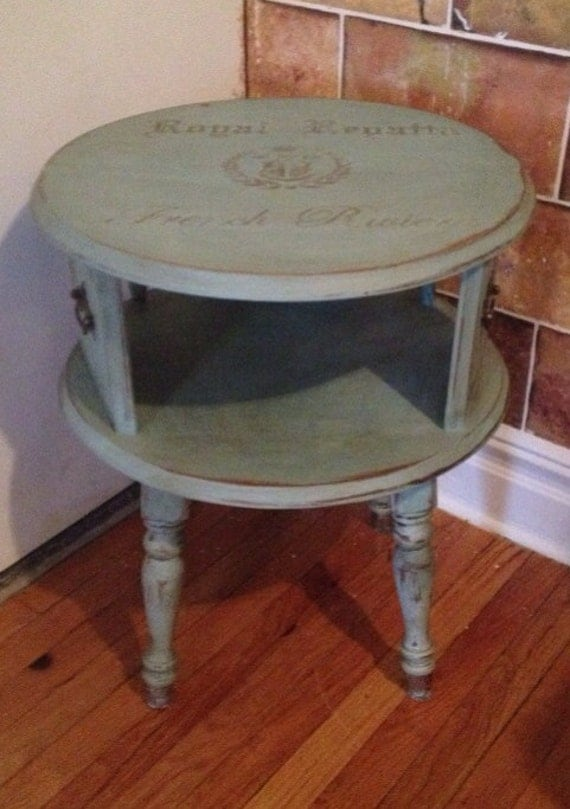 Vintage round side table for Retro side table
