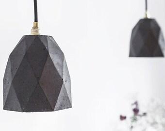 Concrete hanging lamp [T1] dark lamp anthracite gold triangulated rare designer lamp