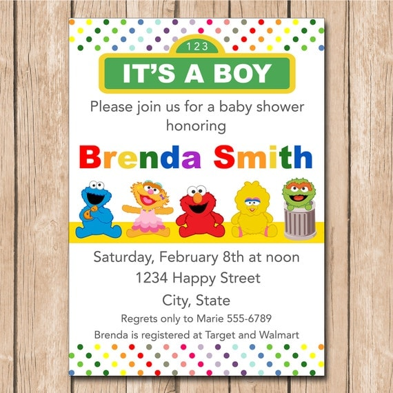 Sesame Street Baby Shower Invitations correctly perfect ideas for your invitation layout