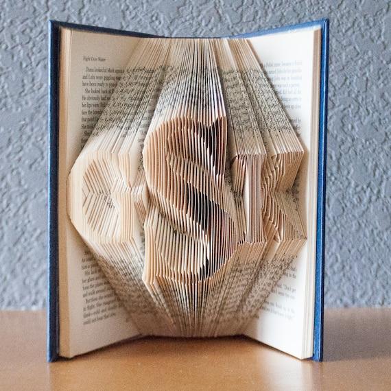 Gift for the CoupleMonogramFolded Book Art- Wedding Gift ...