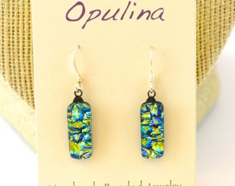 Dichroic Earrings Yellow