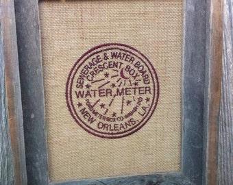 GG1089  New Orleans Water Meter  applique design