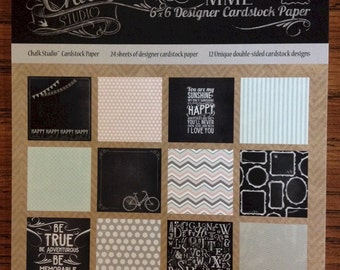 My Mind's Eye CHALK STUDIO 6x6 Scrapbook Cardstock Paper Pad - Great for mini albums and card making!