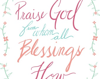 Doxology Praise God From Whom All Blessings Flow digital vector download