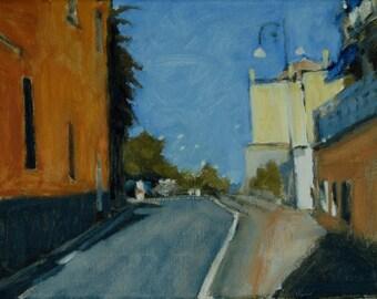 Original Oil Painting, Street Scene,  Sorrento, Italy, by Robert Lafond